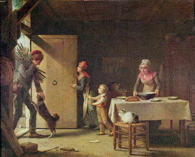 The Rustic Family, 1815 Fine Art Print by Martin Drolling