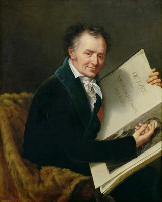 Portrait of Dominique Vivant (1747-1825) Baron Denon, 1808 (oil on canvas) Postcards, Greetings Cards, Art Prints, Canvas, Framed Pictures, T-shirts & Wall Art by Robert Lefevre