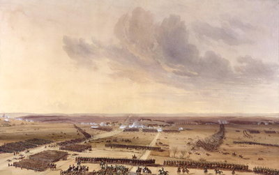 The Battle of Montmirail on the 11th February 1814 (w/c on paper) Fine Art Print by Jean Antoine Simeon Fort