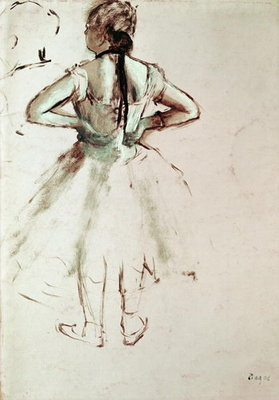 Dancer viewed from the back Fine Art Print by Edgar Degas