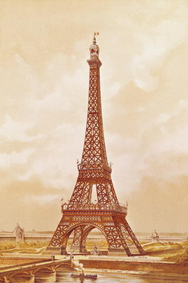 The Eiffel Tower, 1889 Poster Art Print by French School