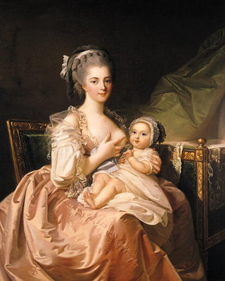 The Young Mother, c.1770-80 (oil on canvas) Wall Art & Canvas Prints by Jean Laurent Mosnier