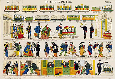 Rail Travel, c.1850 Poster Art Print by French School