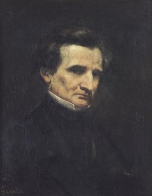 Hector Berlioz (1803-69) 1850 (oil on canvas) Fine Art Print by Gustave Courbet