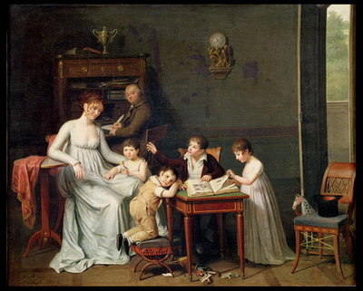 Portrait of a Family, 1800-01 Fine Art Print by Joseph Marcellin Combette
