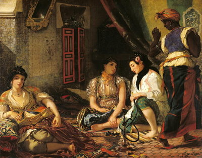 The Women of Algiers in their Apartment, 1834 (oil on canvas) Wall Art & Canvas Prints by Ferdinand Victor Eugene Delacroix