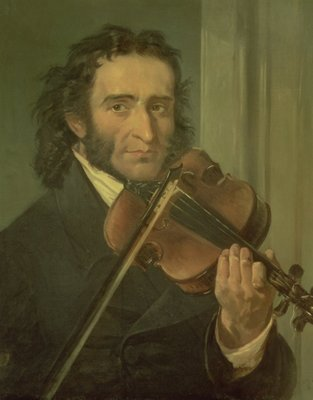 Portrait of Niccolo Paganini (1782-1840) (oil on canvas) Wall Art & Canvas Prints by Italian School