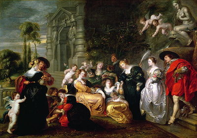 The Garden of Love (oil on canvas) Fine Art Print by Peter Paul Rubens