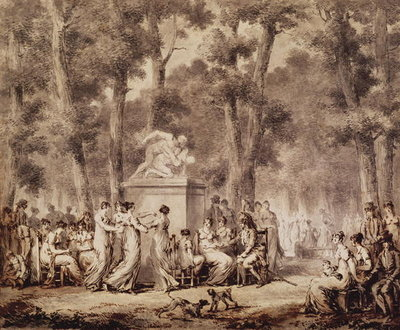 The Jardin des Tuileries in 1808 Fine Art Print by Jean Pierre Norblin