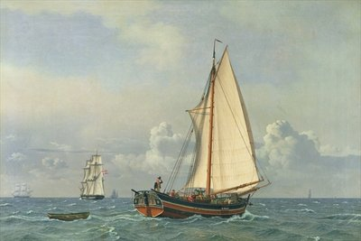 The Sea, 1831 (oil on canvas) Fine Art Print by Christoffer-Wilhelm Eckersberg
