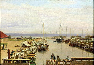 The Port of Dragor, 1826 (oil on canvas) Wall Art & Canvas Prints by Christoffer-Wilhelm Eckersberg