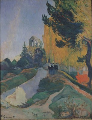 The Alyscamps, Arles, 1888 (oil on canvas) Wall Art & Canvas Prints by Paul Gauguin
