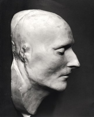 Death mask of Napoleon Bonaparte (1769-1821) (plaster) (b/w photo) Fine Art Print by French School