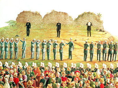 The Execution of Maximilian I Fine Art Print by Mexican School