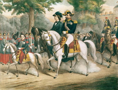 The Imperial Family on Horseback Fine Art Print by French School