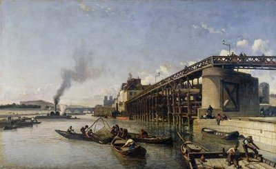 View of Paris, the Seine or l'Estacade, 1853 Fine Art Print by Johan-Barthold Jongkind