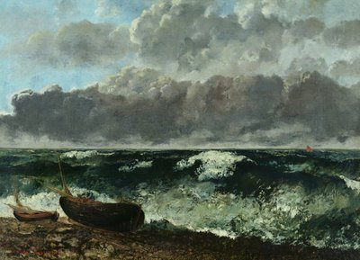 The Stormy Sea or, The Wave, 1870 (oil on canvas) Fine Art Print by Gustave Courbet