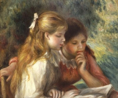 The Reading, c.1890-95 Fine Art Print by Pierre-Auguste Renoir
