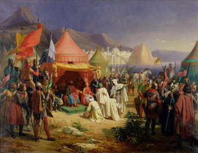The Taking of Tripoli, April 1102, 1842 Fine Art Print by Charles Alexandre Debacq