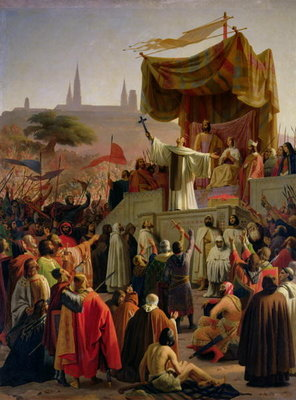 St. Bernard Preaching the Second Crusade in Vezelay, 31st March 1146, 1840 Fine Art Print by Emile Signol