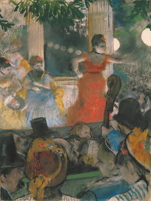 Cafe Concert at Les Ambassadeurs, 1876-77 Fine Art Print by Edgar Degas
