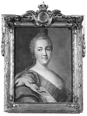 Catherine II (1729-96) (oil on canvas) (b/w photo) Wall Art & Canvas Prints by Vigilius Erichsen