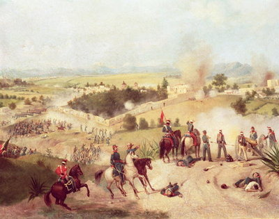 The Battle of Molino del Rey, 8th September 1847 (oil on canvas) Postcards, Greetings Cards, Art Prints, Canvas, Framed Pictures & Wall Art by C. Escalante