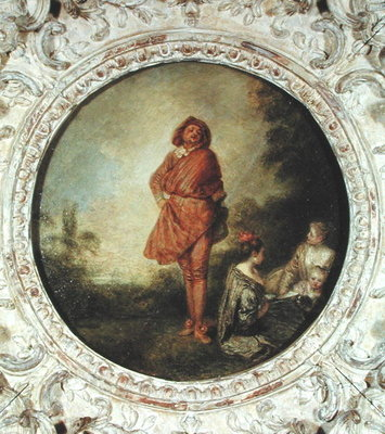 The Proud Man, 1715 (oil on canvas) Fine Art Print by Jean Antoine Watteau