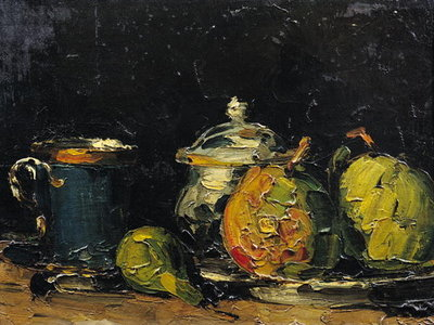 Still Life, c.1865 (oil on canvas) Postcards, Greetings Cards, Art Prints, Canvas, Framed Pictures & Wall Art by Paul Cezanne