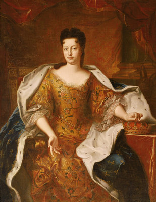 Elisabeth-Charlotte d'Orleans (1676-1744) Duchesse de Lorraine (oil on canvas) Wall Art & Canvas Prints by Pierre Gobert