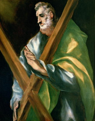 St. Andrew (oil on canvas) Fine Art Print by El Greco