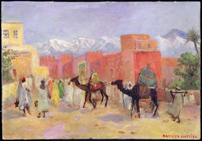 A Village in the Atlas Mountains (oil on canvas) Wall Art & Canvas Prints by Lucie Ranvier-Chartier