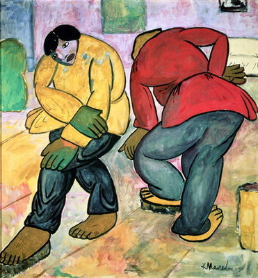 The Floor Polishers, 1911 Poster Art Print by Kazimir Severinovich Malevich