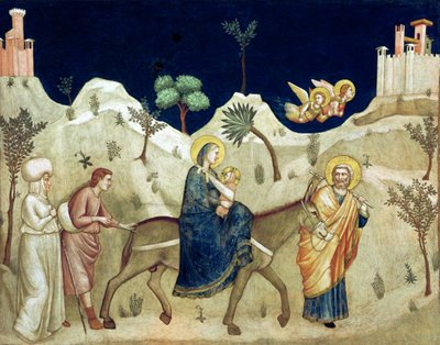 The Flight into Egypt Fine Art Print by Giotto di Bondone