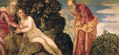Susanna and the Elders (oil on canvas) Fine Art Print by Jacopo Robusti Tintoretto