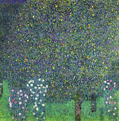 Roses under the Trees, c.1905 (oil on canvas) Wall Art & Canvas Prints by Gustav Klimt
