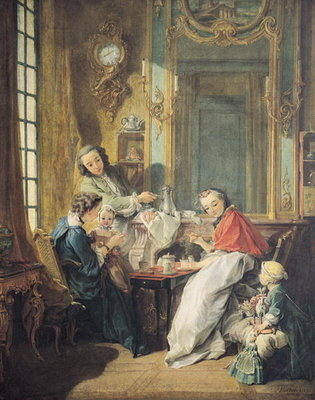 The Afternoon Meal, 1739 (oil on canvas) Wall Art & Canvas Prints by Francois Boucher