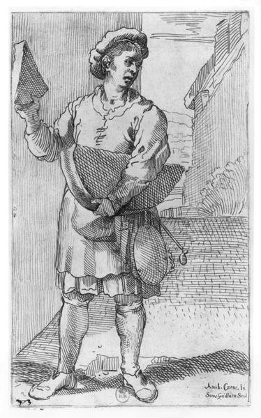 The Parmesan cheese Seller Fine Art Print by Annibale Carracci