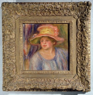 Woman with a hat, c.1915-19 ? Poster Art Print by Pierre-Auguste Renoir