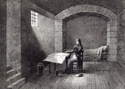 Brigadier-General Bonaparte in prison in the Fort Carre in Nice, engraved by Jean-Baptiste Jobard Fine Art Print by French School