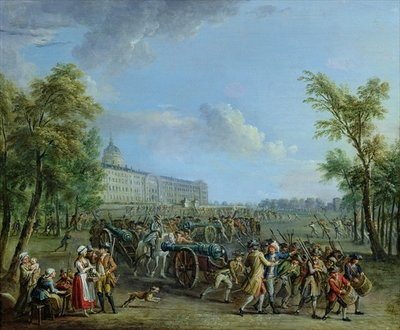 The Pillage of the Invalides, 14 July 1789 Fine Art Print by Jean-Baptiste Lallemand