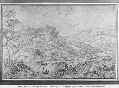 Landscape, 1553 (pen & ink on paper) Postcards, Greetings Cards, Art Prints, Canvas, Framed Pictures & Wall Art by Pieter the Elder Bruegel