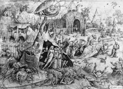 Luxury, 1557 (engraving) (b/w photo) Postcards, Greetings Cards, Art Prints, Canvas, Framed Pictures, T-shirts & Wall Art by Pieter the Elder Bruegel