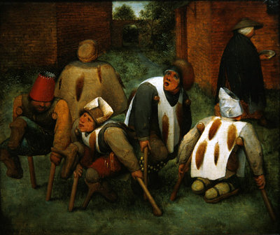 The Beggars, 1568 (oil on panel) Wall Art & Canvas Prints by Pieter the Elder Bruegel