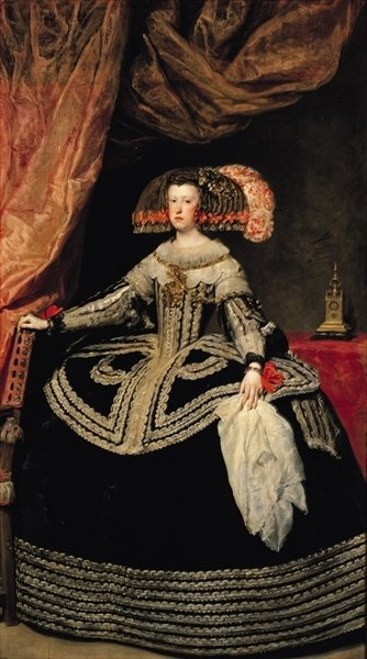 Queen Maria Anna (1634-96) of Austria, 1652 (oil on canvas) Wall Art & Canvas Prints by Diego Rodriguez de Silva y Velazquez