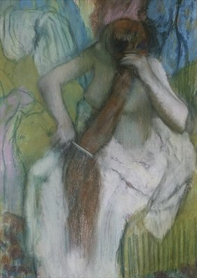 Woman Combing her Hair, 1887-90 Fine Art Print by Edgar Degas
