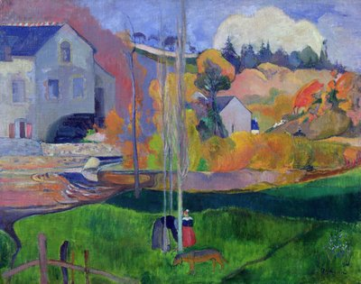 Brittany Landscape: the David Mill, 1894 Fine Art Print by Paul Gauguin