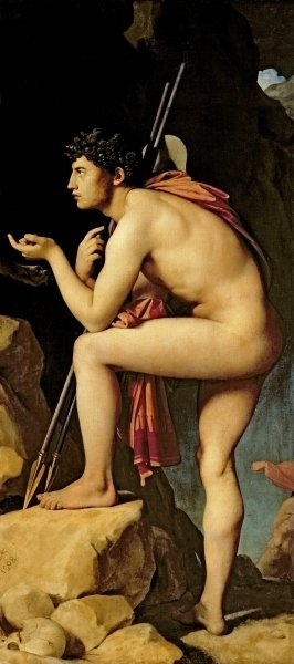 Oedipus and the Sphinx, 1808 (oil on canvas) (detail of 267669) Fine Art Print by Jean Auguste Dominique Ingres