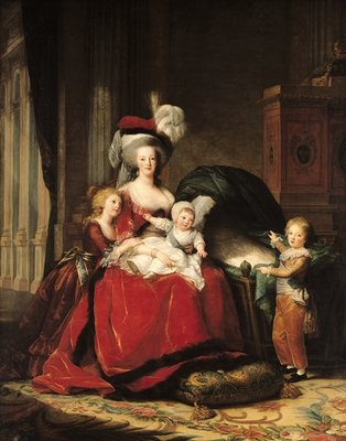 Marie-Antoinette (1755-93) and her Children, 1787 (oil on canvas) Wall Art & Canvas Prints by Elisabeth Louise Vigee-Lebrun
