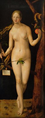 Eve, 1507 (oil on panel) Wall Art & Canvas Prints by Albrecht Dürer or Duerer